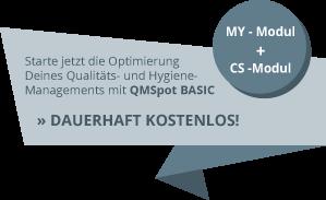 Dauerhaft kostenlos! - QMSpot Basic - modulare Hygiene- und Qualitätsmanagement App