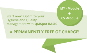 Start optimizing your quality and hygiene management now with QMSpot Basic
